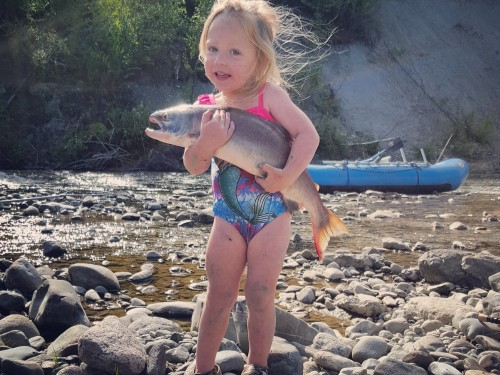 Sockeye Salmon, rafting with kids, children, paddling, boating, fishing