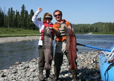 King Salmon, Alaska, Gulkana River, salmon fishing
