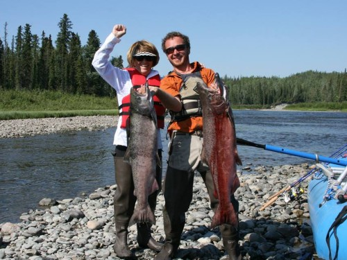 Gulkana River, King Salmon, fishing