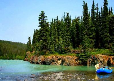 Klutina River, Copper Center, Alaska, Salmon fishing